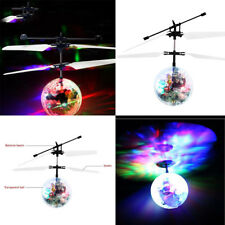 Kids Child Flying RC Ball Led Flashing Light Ball Aircraft Helicopter Gift Toys