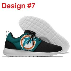 MIAMI DOLPHINS Lightweight Tennis Shoes Men's Women's Sneakers Football Team NEW