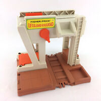 Fisher-price Lift And Load Railroad Main Building Playset Depot Vintage 1978