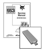 Bobcat 553 Skid Steer Loader Workshop Service Repair Manual USB Stick + Download