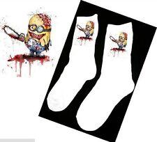 LADIES SOCKS Minion Zombie Despicable Me Gift Goth Emo Tattoo Sugar Scull