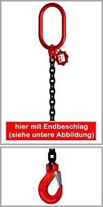 Anschlagkette Kettengehänge 1-Strang EN818-4  6mm 1120kg 1m-4m GK8 schwarz