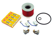 Tune Up Kit - Oil Filter Spark Plugs Points & Condensers - Honda - CB350F CB400F