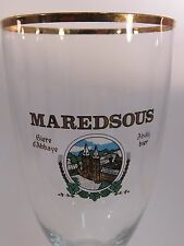 BEER Stem GLASS >< MAREDSOUS D'Abbaye; BELGIAN Brewery ~*~ BENEDICTINE Tradition