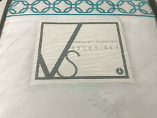 4 Peice Queen Sheet Set White Turquoise Super Soft Microfiber Nip By Visco Soft