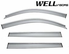For 11-UP BMW X3 WellVisors Side Window Visors W/ Chrome Trim