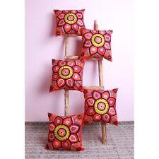 Embroidery 5 PCs Suzani Pillow Case Sofa Waist Cushion Cover