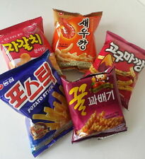 5PCS Nongshim Snack Pack Shrimp Sweet Potato Potato Stick Honey Twisted Seafood