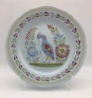 Vintage Henriot Quimper French Faience Plate with Bird Hand Painted for Wall