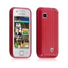 Housse étui coque gel diamant pour Samsung Wave 575 S5750 couleur rouge