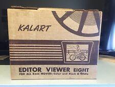 Kalart Editor Viewer Eight 8 mm Film Movie Splicer Vintage US w/ box, Manuals