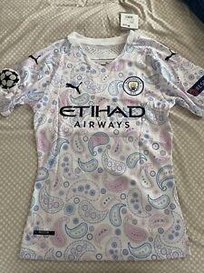 Manchester City 2020/21 Men's Jersey Size S Champions League Aguero