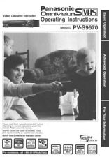 Panasonic PV-S9670 VCR Owners Instruction Manual
