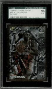 💥Allen Iverson 1996-97 Topps Finest #69 Rookie card Graded 9 SGC. 💥 Kobe Year