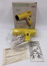 Vtg Conair Pistol Power Blowdryer 1200 Bright Yellow Hair Dryer New Old Stock b4