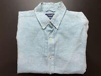 Chaps by Ralph Lauren Linen Mens Shirt Size M Short Sleeve Button Up