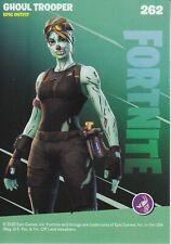 Fortnite Ghoul Trooper Nachtleuchtende Karte Episch 262 Clowin Trading Card