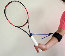 PermaWrist tennis swing wrist training aid for forehands, backhands and volleys