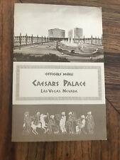 Caesars Palace Hotel Casino Vintage Officers' Menu Las Vegas Nevada