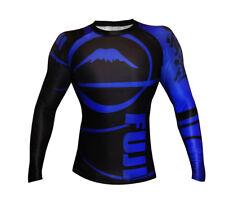 Fuji Sports Freestyle Ibjjf Ranked Bjj Jiu Jitsu Long Sleeve Ls Rashguard - Blue