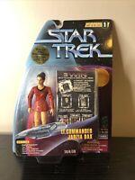 Star Trek Warp Factor Series 1 Lt. Commander Jadzia Dax Playmates New On Card
