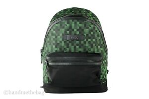 Michael Kors Mens Kent Geometric Camouflage Nylon Backpack Bag