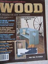 WOOD Better Homes & Gardens FEBRUARY1989 Issue 27 Woodworking Crafts Projects