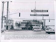 1960 Press Photo Anchorage All American City Sign 1960s Alaska