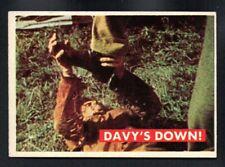 DAVY'S DOWN ! 1956 TOPPS DAVY CROCKETT GREEN SERIES #36A EXMINT/NEARMINT (OC)