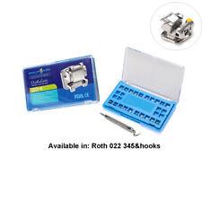 EASYINSMILE 1Set Dental Self Ligating Bracket Braces Roth 022 345 Hook with Tool