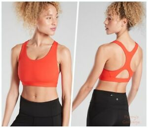ATHLETA Ultimate Bra D-DD in Vermillion S SMALL | Running Cardio Sports Top Yoga