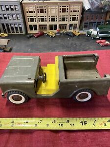 Vintage Structo IH Scout Army Toy Truck Pressed Steel RARE INCOMPLETE
