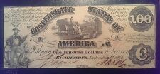 New listing 1861 $100 T-13 Confederate States of America Note One Hundred Dollars