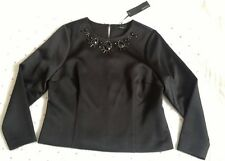 M&S Autograph Bead Embellished Tunic Top Blouse BNWT RRP £65 Black Size 16