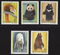 HUNGARY-1977. Animals / Bear / Panda / Cpl.Set MNH!!! Mi:3243-3247.