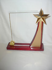 Rising Star Piano Finish Wood Accent Award Plaque
