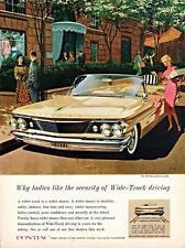 Old Print.  1960 Pontiac Bonneville Convertible Auto Advertisement