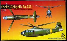 Unicraft Models 1/72 FOCKE ACHGELIS Fa.283 German WWII Jet Gyrocopter Project