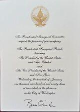 Bill Clinton SIGNED Inaugural Invitation 20th January 1993