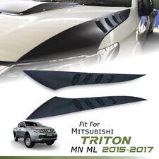 MATT MATTE BLACK SIDE BONNET COVER FOR MITSUBISHI TRITON L200 MN ML 2015 16 17