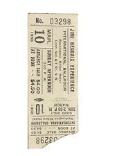 Original Jimi Hendrix Ticket Rare Washington Hilton March 1968 Torn Corner