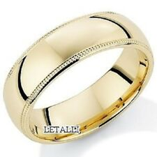 18K YELLOW GOLD MENS WEDDING BAND RING 6MM