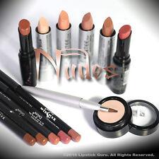 NUDE Lipstick :: Nude Set :: 6 Lipsticks, Primer & 5 Nude Lip Pencils