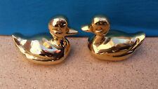 SOLID ART BRASS PAIR OF DUCK ORNAMENTS 67508