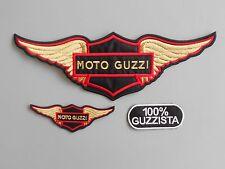 MOTO GUZZI KIT 3 TOPPE AQUILA PATCH RICAMATE TERMOADESIVE