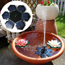 Solar Powered Fountain Water Pump Floating Garden Pond Pool Fish Tanks Bird Bath