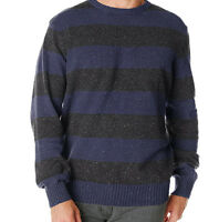 Dockers Mens Cotton Blend Crew Neck Striped Pullover Sweater Blue Gray NEW, M, L