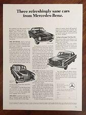 Vintage 1967 Original Print Ad MERCEDES-BENZ 200-230SL-250S Coupe Sedan Diesel