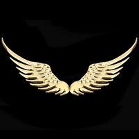 Flügel 3D Chrom 2x Aufkleber Sticker Wings Auto Motorrad Gold Federn Emblem