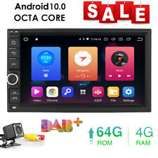 """Octa-Core Android 9.0 4GB RAM 7"""" Double 2DIN Car GPS Navigation Stereo Radio+Cam"""